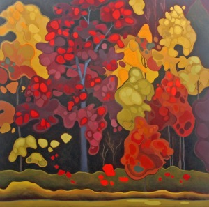 Autumn Spectacle, 40%22 x 40%22, Acrylic on Canvas, 2013
