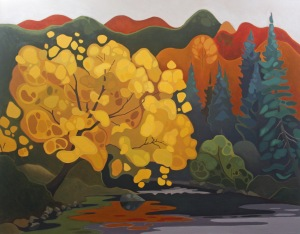 Creek Willow, 42%22 x 54%22, Acrylic on Canvas, 2013