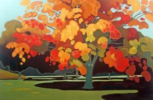 Maple Splendor, 40%22 x 60%22, Acrylic on Canvas, 2013