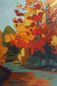Orange Maple, 54%22 x 36%22, Acrylic on Canvas, 2013