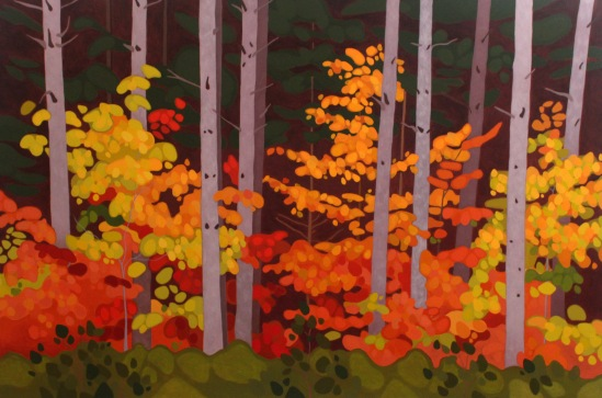 pine-trunks-and-maples-2017-60%22-x-40%22-acrylic-on-canvas