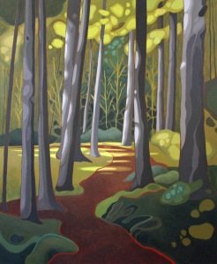 Manitoulin Trail II, 24%22 x 36%22, Acrylic on Canvas, 2014