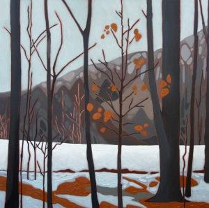 Winter Remnants II, 24%22 x 24%22, Acrylic on Canvas, 2014