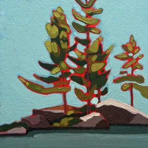 Wolf Lake I, 10%22 x 10%22, Acrylic on Wood Panel, 2014