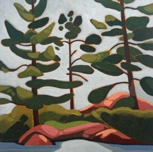 Wolf Lake III, 10%22 x 10%22, Acrylic on Wood Panel, 2014