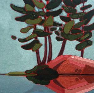 Wolf Lake IV, 10%22 x10%22, Acrylic on Canvas, 2014