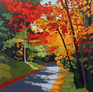 Forest Road IV, 2016, 40%22 x 40%22, Acrylic on Canvas, Smartfix 2