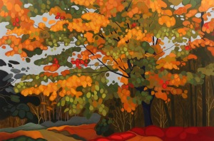 Old Maple, 2016, 60%22 x 40%22, Acrylic on Canvas