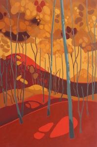 Red Hills, 2016, 24%22 x 36%22, Acrylic on Wood Panel