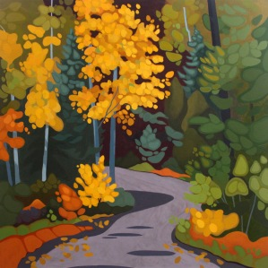 Algonquin Road, 2017, 40 x 40, Acrylic on Canvas