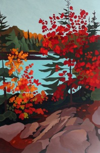 Algonquin Trail, 2017, 40 x 60, Acrylic on Canvas