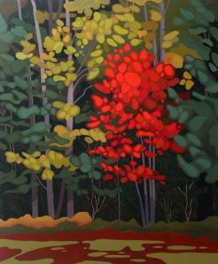 Red Tree III, 2017, 30 x 36, Acrylic on Canvas