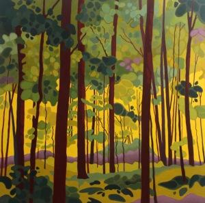 Summer Forest, 2017, 36 x 36, Acrylic on Canvas