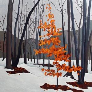 Winter Beech II, 40 x 40, Acrylic on Canvas, 2017