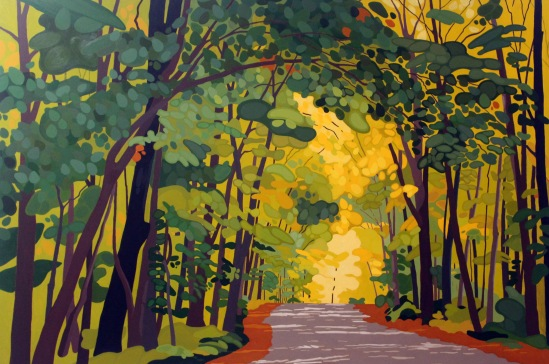 Algonquin Road II, 72 x 48, Acrylic on Canvas, 2017