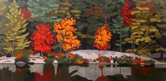 Wolf Lake VI, 2017, 60 x 30, Acrylic on Canvas