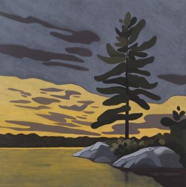 Crab Lake Pine, 2018, 24 x 24, Acrylic on Canvas