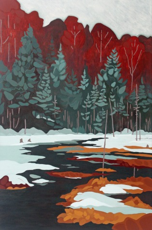 Spring Thaw, 2018, 24 x 36, Acrylic on Canvas
