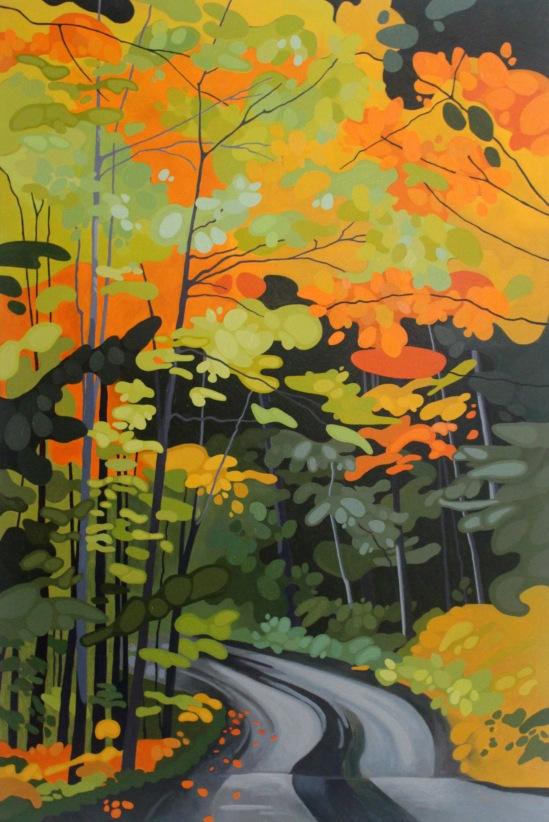 Algonquin Road IV, 2019, 40 x 60, Acrylic on Canvas, Leanne Baird