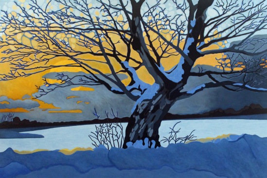 Winter Silhouette, 2019. 60 x 40, Acrylic on Canvas