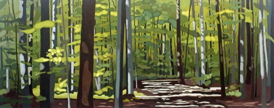 Awenda Park, 2019, 60 x 24, Acrylic on Canvas