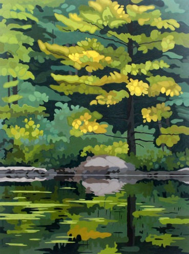 Pine Reflection, 2019,30 x 40, Acrylic on Canvas