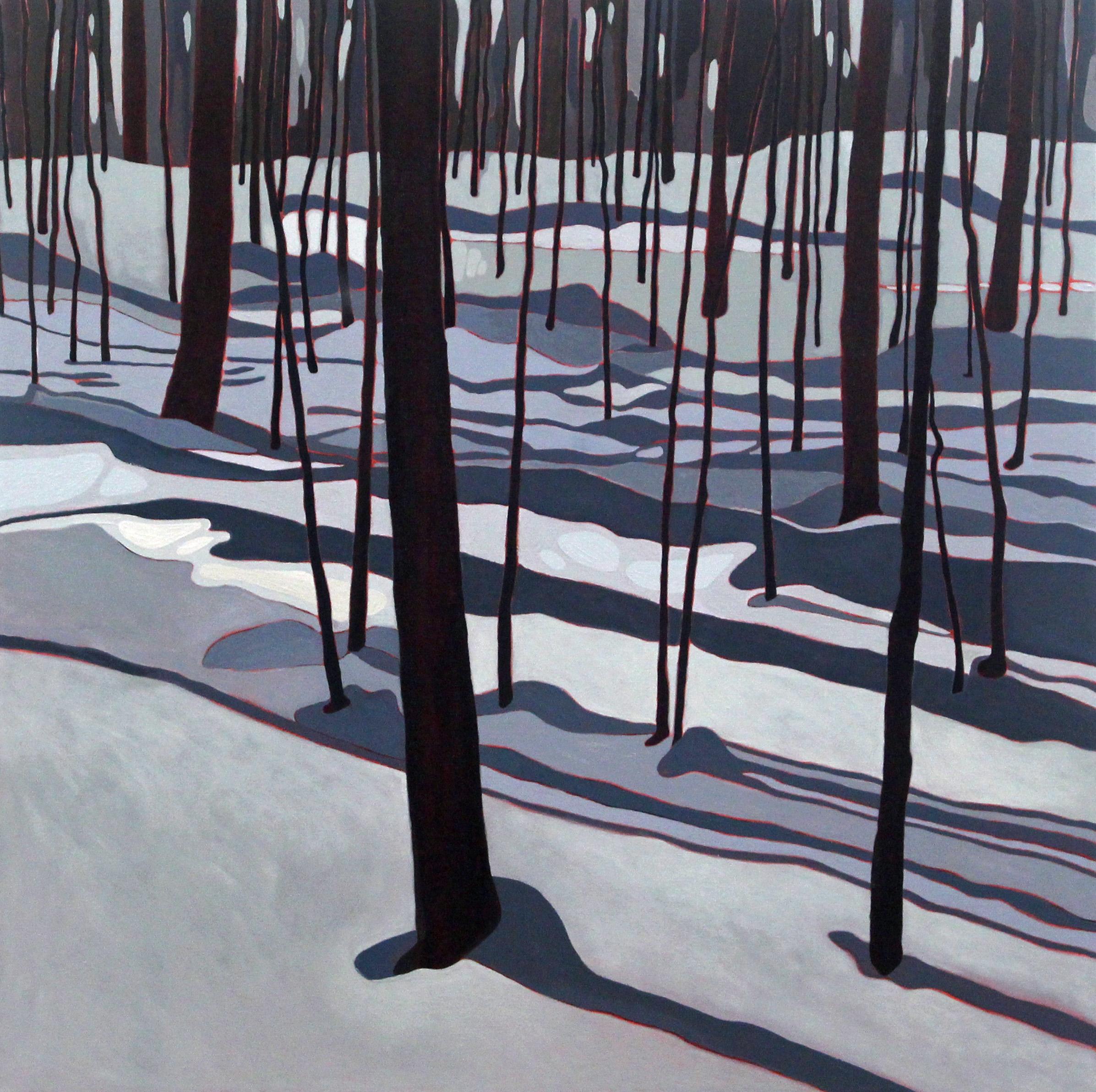 Winter Shadows, 2019, 24 x 24, Acrylic on Canvas