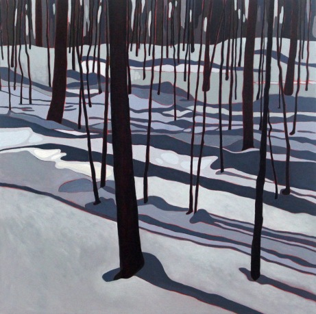 Winter Shadows, 2019, 24 x 24, Acrylic on Canvas